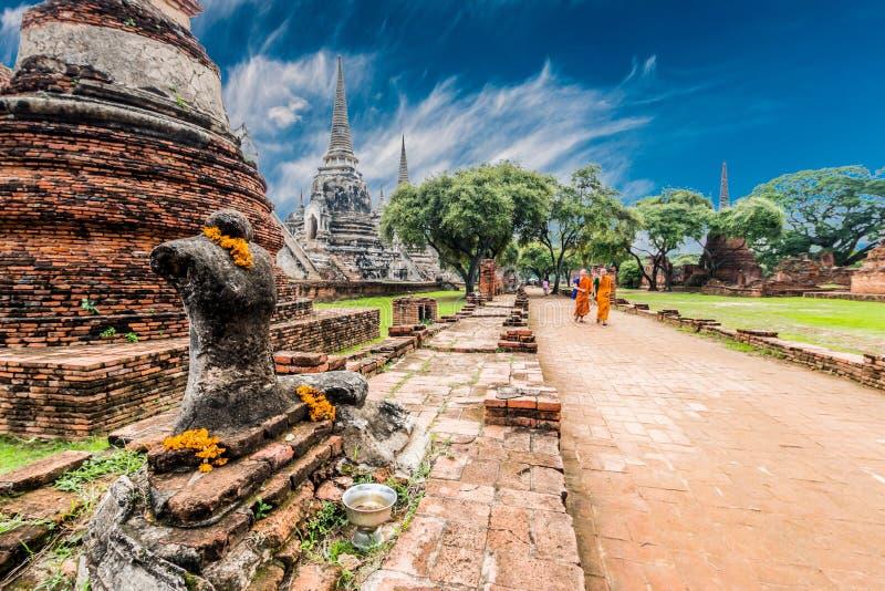 Αρχαιολογική περιοχή σε Ayutthaya στοκ φωτογραφίες με δικαίωμα ελεύθερης χρήσης