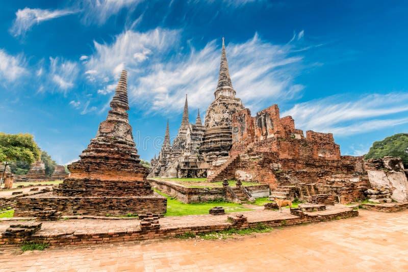 Αρχαιολογική περιοχή σε Ayutthaya στοκ εικόνα με δικαίωμα ελεύθερης χρήσης