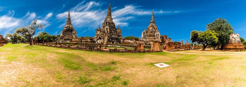 Αρχαιολογική περιοχή σε Ayutthaya στοκ φωτογραφία