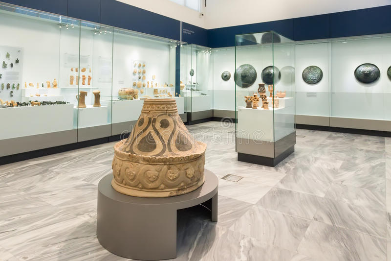 Αρχαιολογικό μουσείο Ηρακλείου στην Κρήτη, Ελλάδα στοκ εικόνες