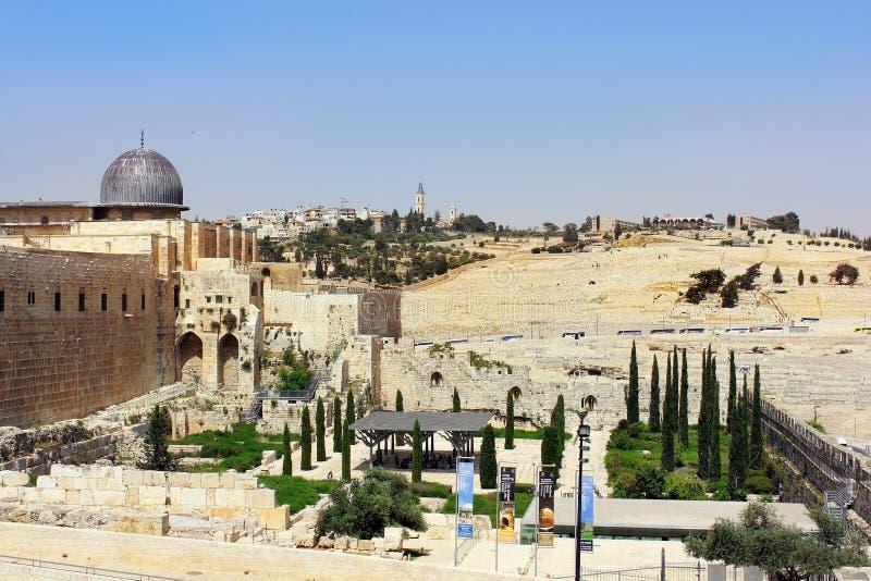 Αρχαιολογικό πάρκο κοντά στους τοίχους της Ιερουσαλήμ, Ισραήλ στοκ φωτογραφίες