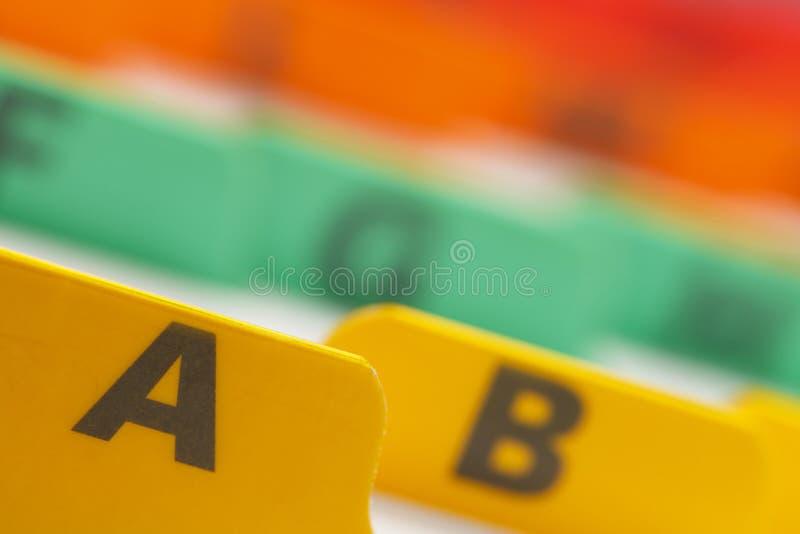 Αρχεία καρτών χρώματος στοκ φωτογραφία με δικαίωμα ελεύθερης χρήσης