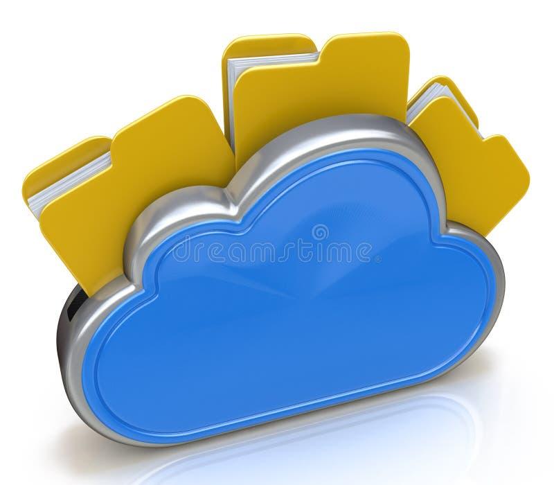 Αρχεία στον υπολογισμό σύννεφων απεικόνιση αποθεμάτων