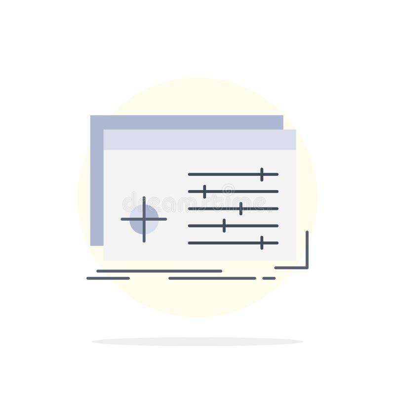 Αρχείο, αντικείμενο, επεξεργασία, τοποθετήσεις, επίπεδο διάνυσμα εικονιδίων χρώματος λογισμικού ελεύθερη απεικόνιση δικαιώματος