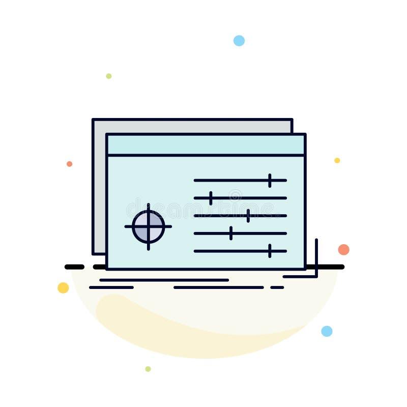 Αρχείο, αντικείμενο, επεξεργασία, τοποθετήσεις, επίπεδο διάνυσμα εικονιδίων χρώματος λογισμικού διανυσματική απεικόνιση
