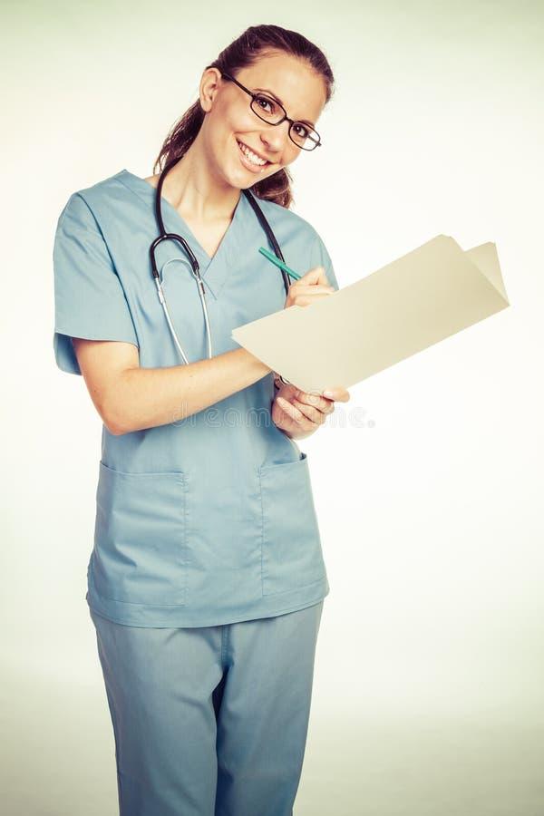 Αρχείο εκμετάλλευσης νοσοκόμων στοκ φωτογραφία
