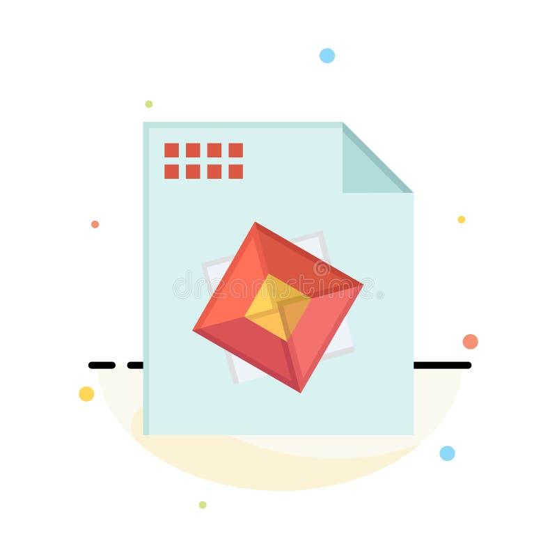 Αρχείο, επεξεργασία, τρισδιάστατος, αφηρημένο επίπεδο πρότυπο εικονιδίων χρώματος σχεδίου ελεύθερη απεικόνιση δικαιώματος