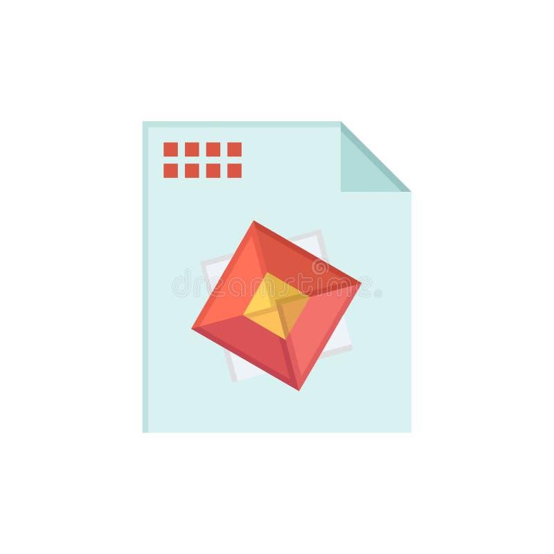 Αρχείο, επεξεργασία, τρισδιάστατος, επίπεδο εικονίδιο χρώματος σχεδίου Διανυσματικό πρότυπο εμβλημάτων εικονιδίων ελεύθερη απεικόνιση δικαιώματος