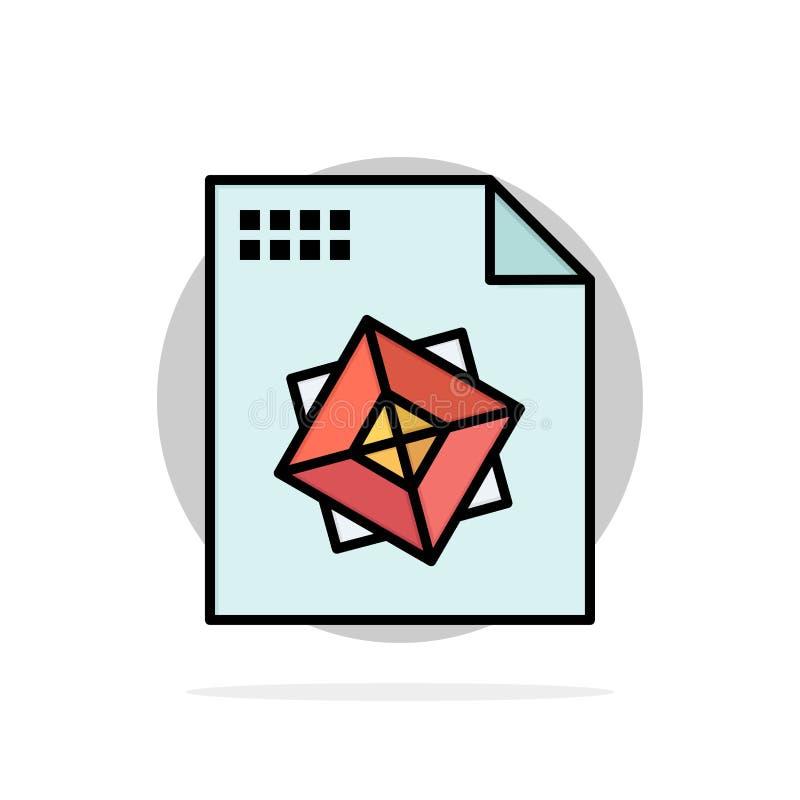 Αρχείο, επεξεργασία, τρισδιάστατος, σχεδίου αφηρημένο κύκλων εικονίδιο χρώματος υποβάθρου επίπεδο διανυσματική απεικόνιση