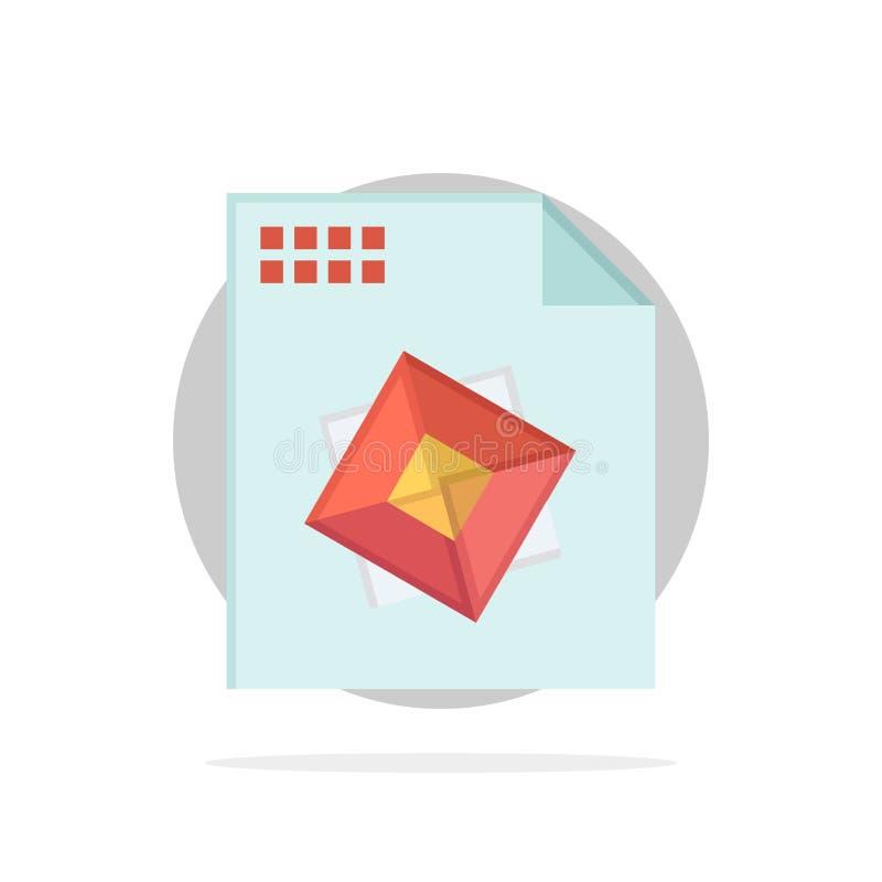 Αρχείο, επεξεργασία, τρισδιάστατος, σχεδίου αφηρημένο κύκλων εικονίδιο χρώματος υποβάθρου επίπεδο ελεύθερη απεικόνιση δικαιώματος