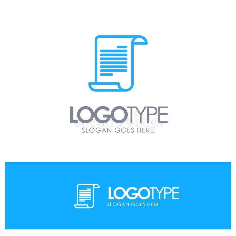 Αρχείο, κείμενο, θέση λογότυπων αμερικανικών, αμερικανικών μπλε περιλήψεων για Tagline απεικόνιση αποθεμάτων