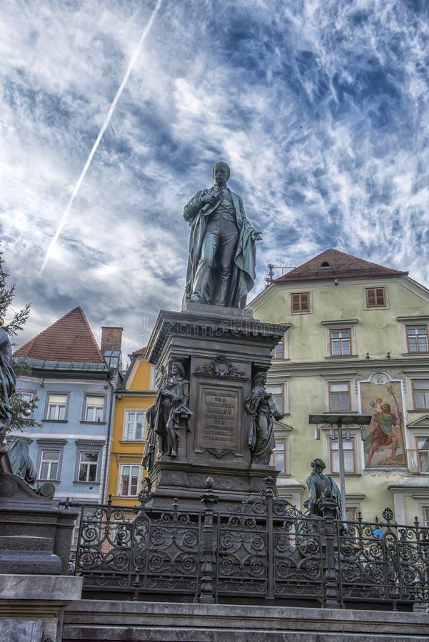 Αρχιδούκας Johann Fountain, αλληγορική αντιπροσώπευση του rive στοκ φωτογραφίες με δικαίωμα ελεύθερης χρήσης