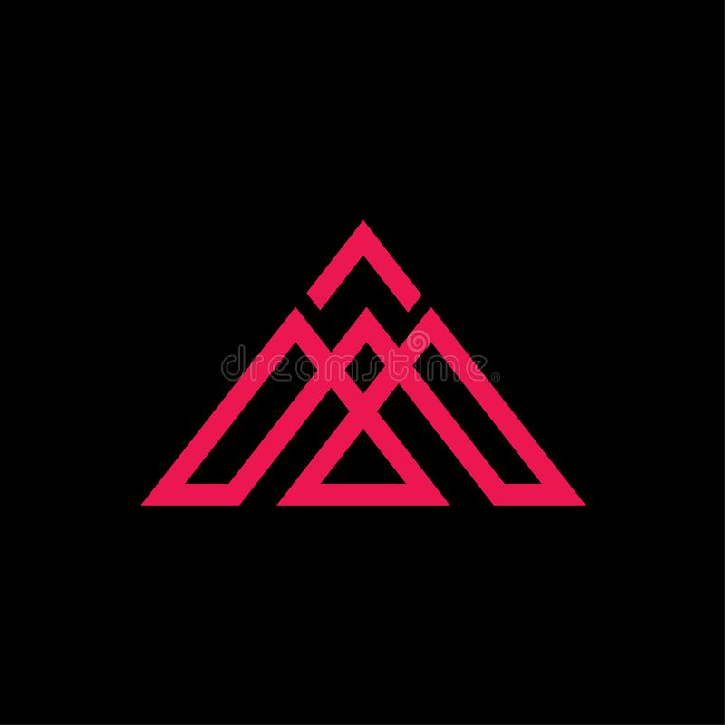 Αρχικά διανυσματική περίληψη λογότυπων τριγώνων Μ απεικόνιση αποθεμάτων