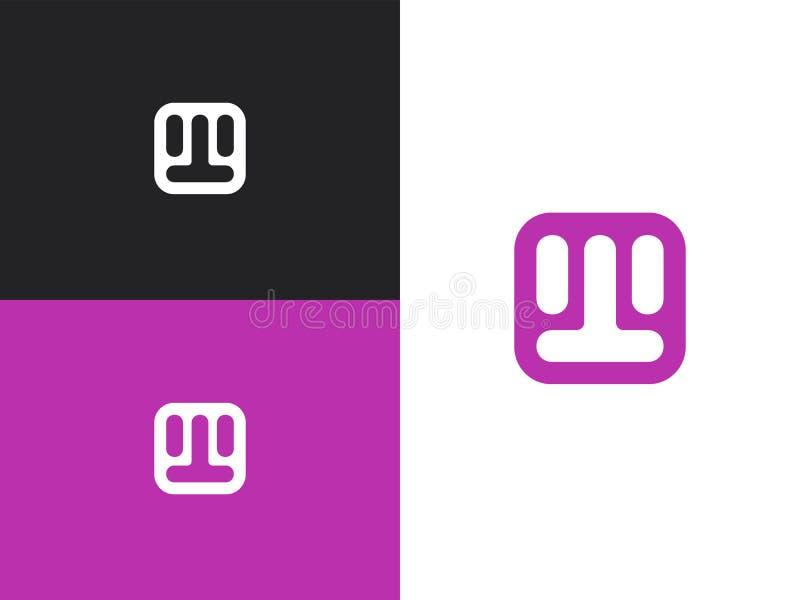 Αρχικά στοιχεία προτύπων σχεδίου λογότυπων γραμμάτων W ελεύθερη απεικόνιση δικαιώματος