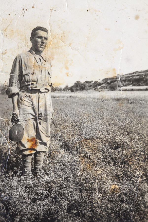 Αρχικές εκλεκτής ποιότητας φωτογραφίες του 1910 του νέου ιταλικού αγρότη στοκ εικόνες