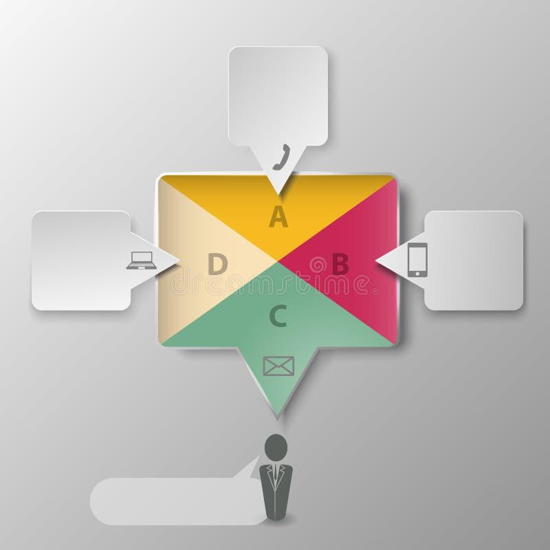 Αρχικές δημιουργικές συνομιλίες infographics σχεδίου των ανθρώπων ελεύθερη απεικόνιση δικαιώματος