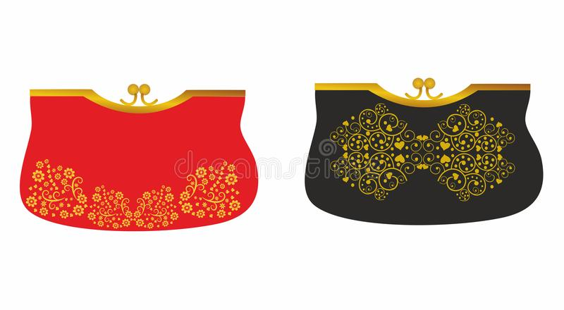 Αρχικές μοντέρνες τσάντες αγορών για τις γυναίκες διανυσματική απεικόνιση