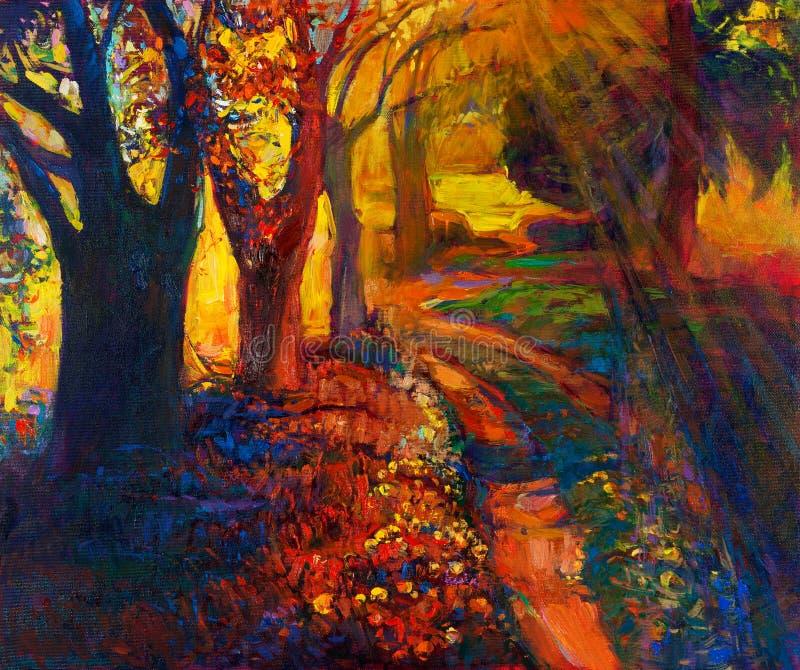 Δάσος φθινοπώρου απεικόνιση αποθεμάτων