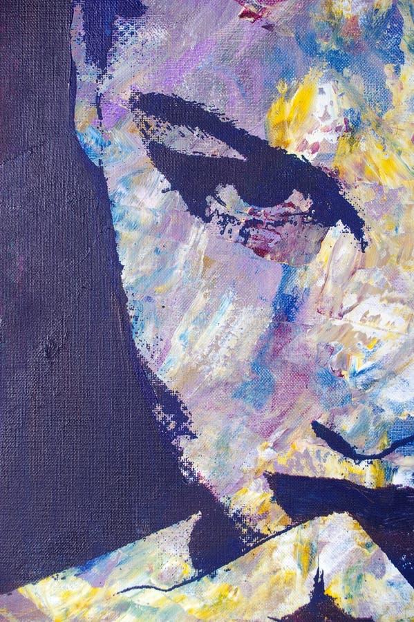 αρχική ζωγραφική πετρελ&alpha διανυσματική απεικόνιση