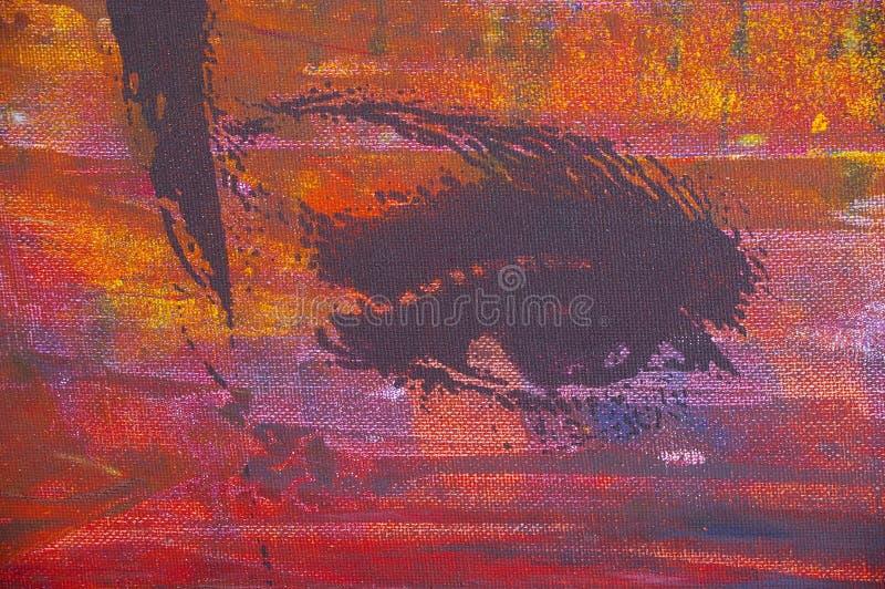 αρχική ζωγραφική πετρελ&alpha ελεύθερη απεικόνιση δικαιώματος