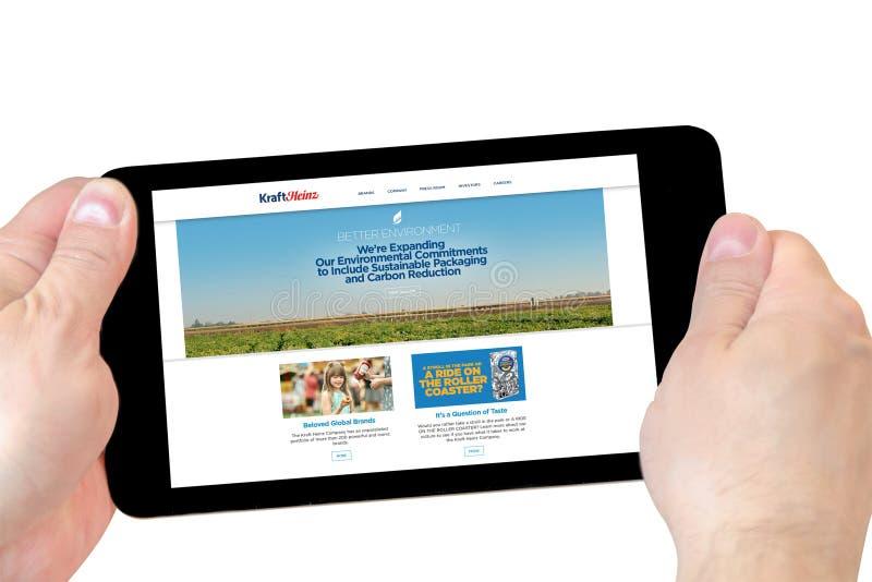 Αρχική σελίδα ιστοχώρου τροφίμων της Kraft στοκ φωτογραφίες με δικαίωμα ελεύθερης χρήσης