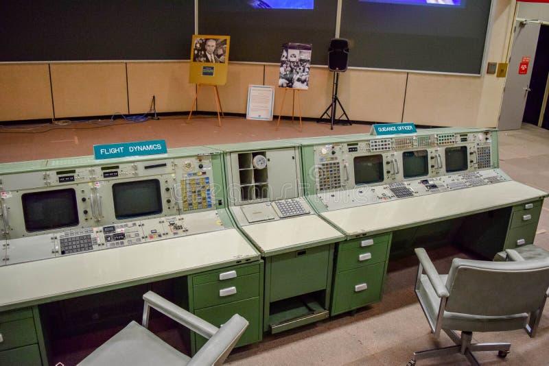 Αρχικός θάλαμος ελέγχου της NASA στοκ εικόνα