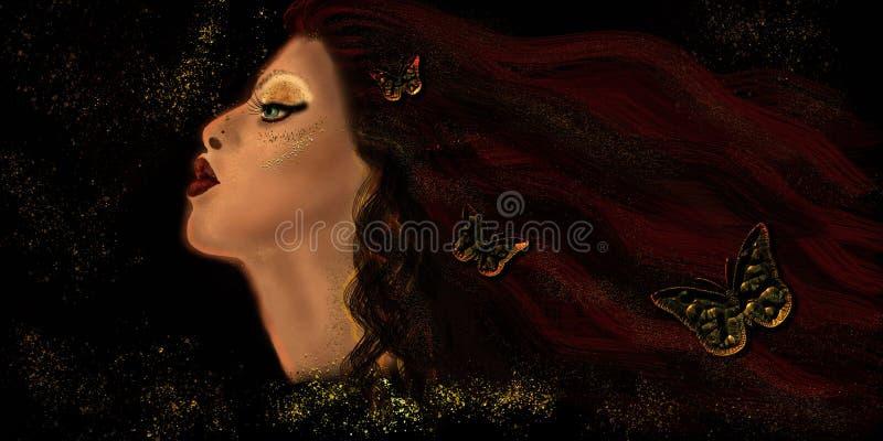 """Αρχικό έργο τέχνης """"γυναίκα απεικόνισης κατάπληξης """" στοκ εικόνα με δικαίωμα ελεύθερης χρήσης"""