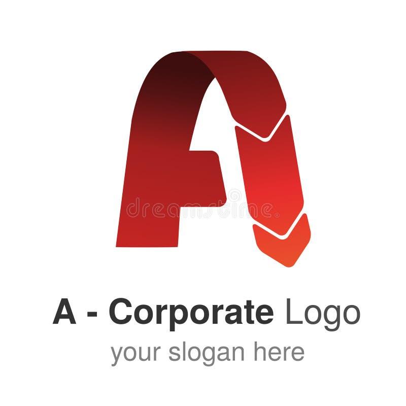 Αρχικό αλφάβητο πηγών Γράμμα Α, εταιρικό σχέδιο λογότυπων, κόκκινο εικονίδιο διανυσματική απεικόνιση