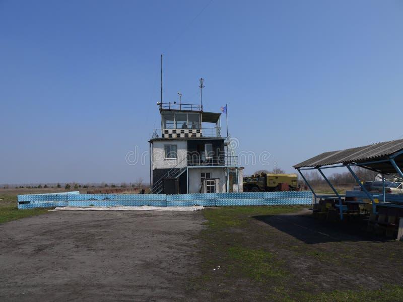 Αρχικό διοικητήριο στον αερολιμένα στοκ φωτογραφίες