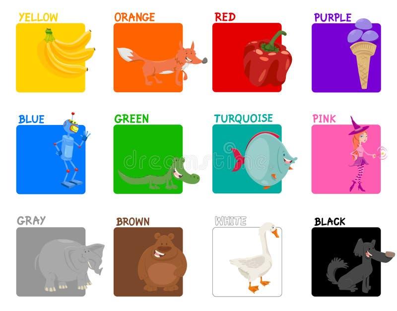 Αρχικό εκπαιδευτικό σύνολο χρωμάτων διανυσματική απεικόνιση