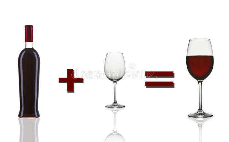 αρχικό κόκκινο κρασί μαθημ& στοκ εικόνα με δικαίωμα ελεύθερης χρήσης