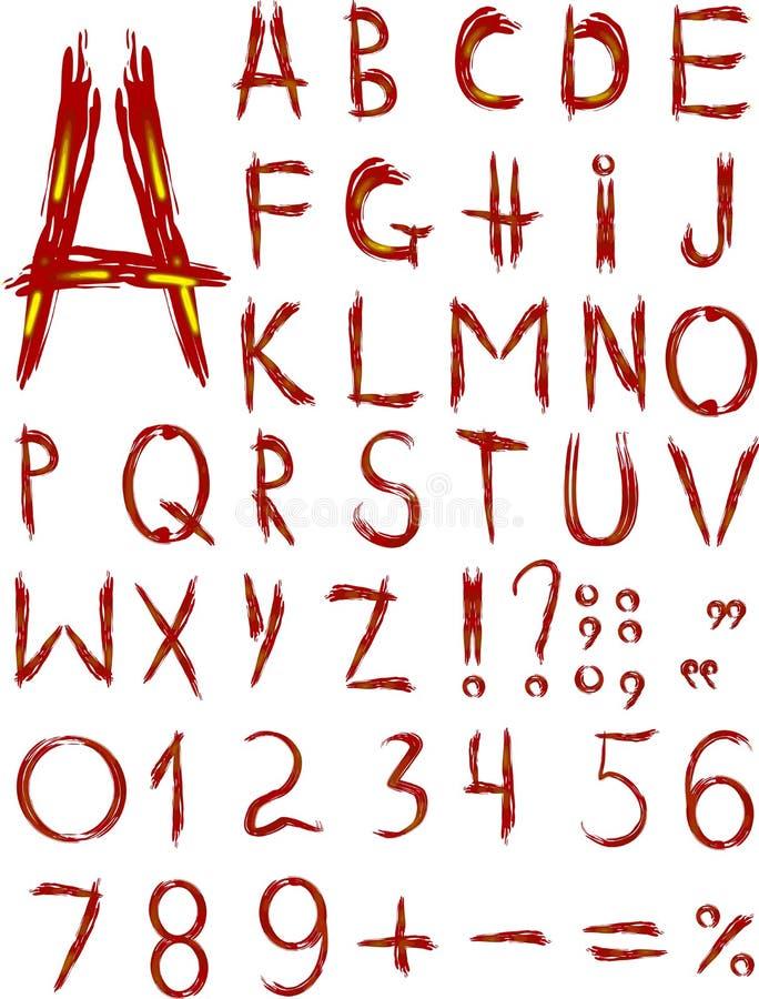 αρχικό κόκκινο τύπων χαρακτήρων διανυσματική απεικόνιση
