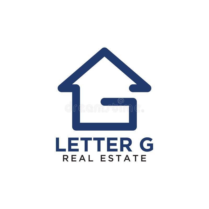 Αρχικό σχέδιο λογότυπων εγχώριων ακίνητων περιουσιών γ επιστολών απεικόνιση αποθεμάτων