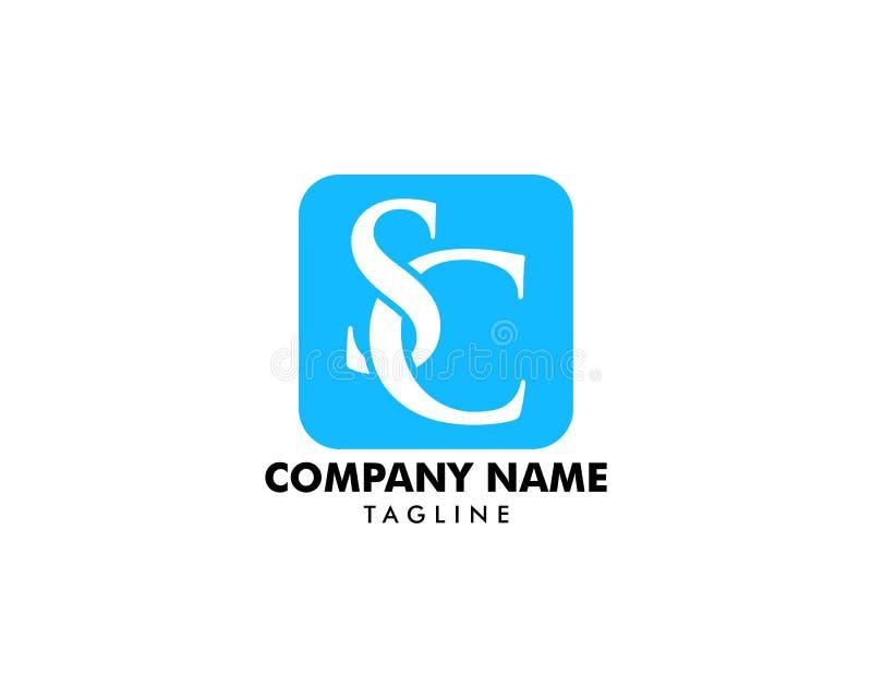 Αρχικό σχέδιο προτύπων λογότυπων γραμμάτων Sc απεικόνιση αποθεμάτων