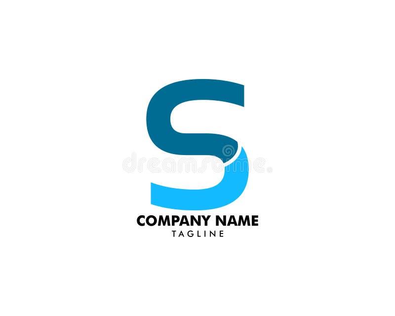 Αρχικό σχέδιο προτύπων λογότυπων γραμμάτων Sc διανυσματική απεικόνιση