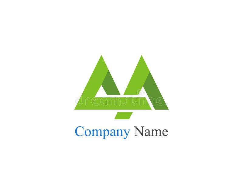 Αρχικό logo Company χρωματισμένο όνομα διάνυσμα PA απεικόνιση αποθεμάτων