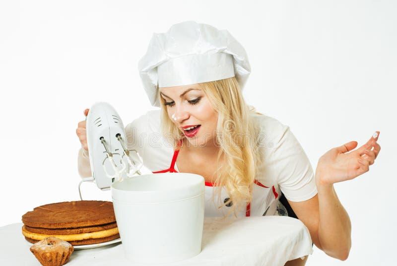 Αρχιμάγειρας γυναικών στοκ εικόνες με δικαίωμα ελεύθερης χρήσης