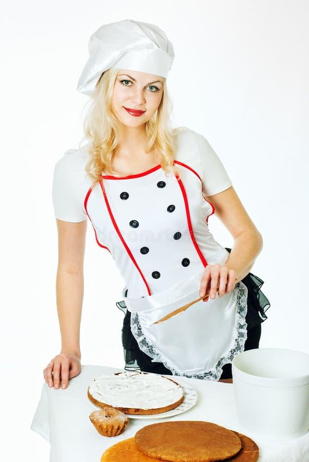 Αρχιμάγειρας γυναικών στοκ εικόνα με δικαίωμα ελεύθερης χρήσης