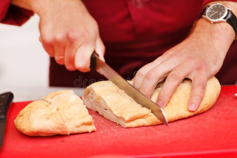 Αρχιμάγειρας στην εργασία στοκ εικόνες με δικαίωμα ελεύθερης χρήσης