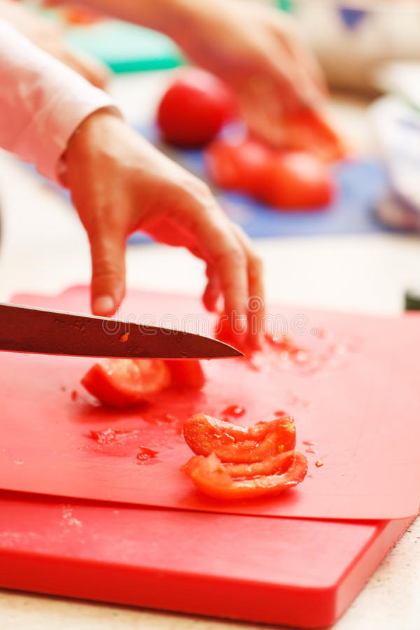 Αρχιμάγειρας στην εργασία στοκ φωτογραφία