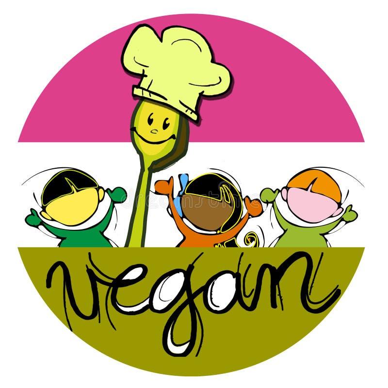 Αρχιμάγειρας Vegan απεικόνιση αποθεμάτων