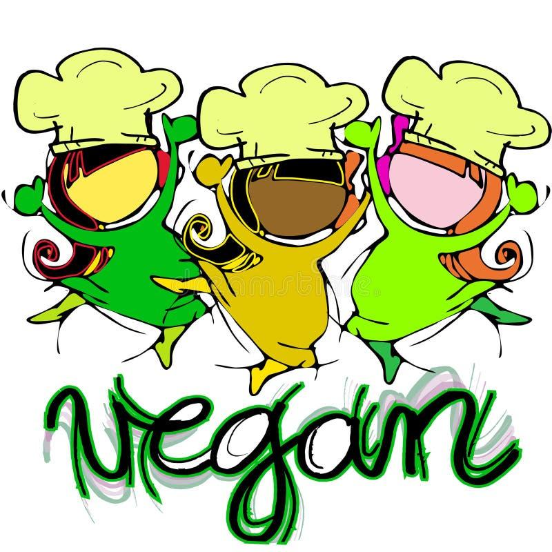 Αρχιμάγειρες παιδιών Vegan απεικόνιση αποθεμάτων