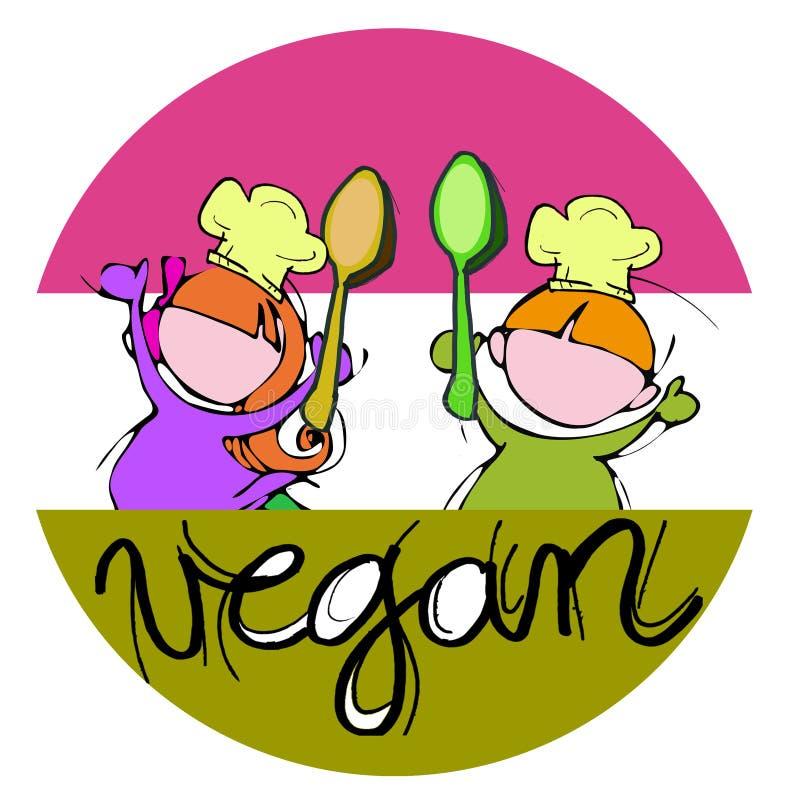 Αρχιμάγειρες παιδιών Vegan ελεύθερη απεικόνιση δικαιώματος