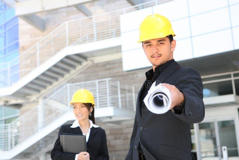 αρχιτέκτονες που χτίζουν το εργοτάξιο οικοδομής στοκ φωτογραφίες με δικαίωμα ελεύθερης χρήσης