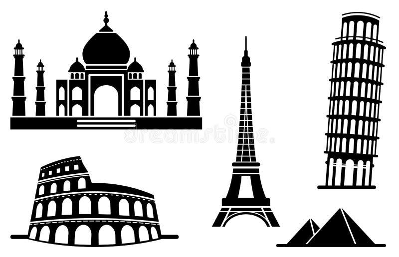 αρχιτεκτονικά μνημεία ει&ka απεικόνιση αποθεμάτων