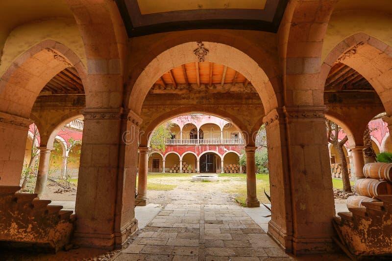 Αρχιτεκτονικές λεπτομέρειες hacienda de berrio Jaral στοκ φωτογραφία με δικαίωμα ελεύθερης χρήσης