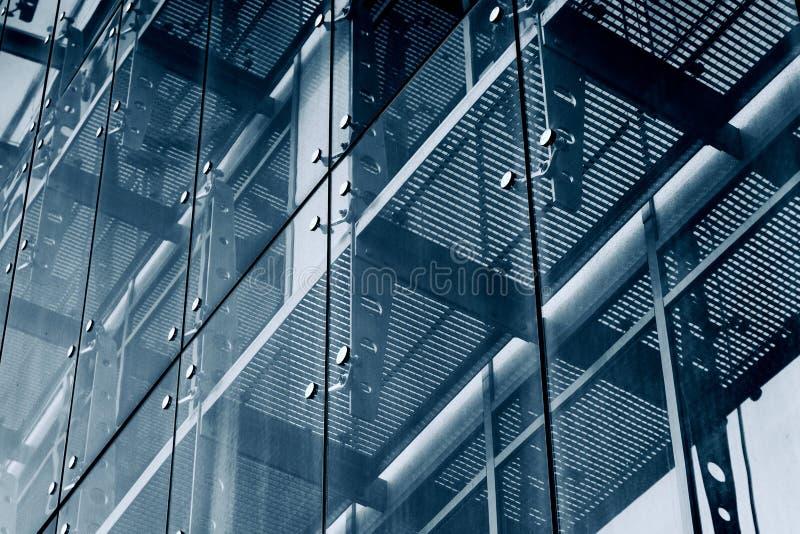 αρχιτεκτονικής βαθύ σχέδιο πυξίδων ανασκόπησης μπλε Σύστημα προσόψεων γυαλιού στοκ εικόνες