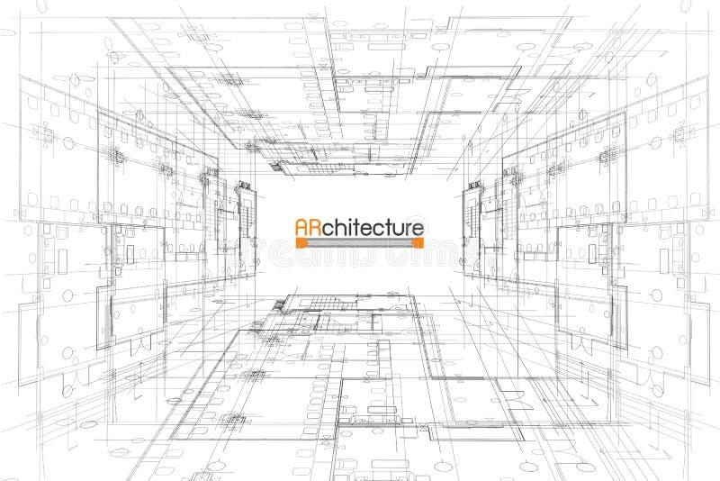 αρχιτεκτονικής βαθύ σχέδιο πυξίδων ανασκόπησης μπλε στοκ εικόνα με δικαίωμα ελεύθερης χρήσης