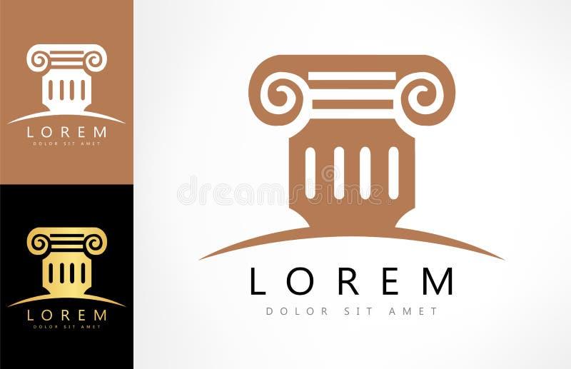 Αρχιτεκτονική - διανυσματική έννοια λογότυπων Παλαιό λογότυπο στηλών απεικόνιση αποθεμάτων