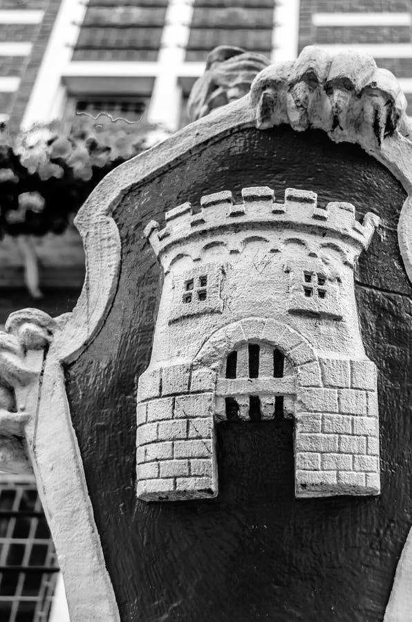 Αρχιτεκτονική λεπτομέρεια αιθουσών πόλεων του Αλκμάαρ στοκ εικόνες